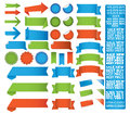 Tape label set of vector ribbons and stickers Royalty Free Stock Photo