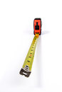 Tape Measure extended and angled Royalty Free Stock Photo