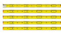 Tape measure in inches