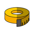 Tape measure isolated icon
