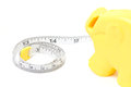 Tape measure isolated on white Stock Images