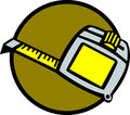 Tape measure ruler vector illustration Royalty Free Stock Images