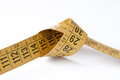 Tape measure used by a dressmaker Royalty Free Stock Images