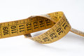Tape measure used by a dressmaker Royalty Free Stock Image