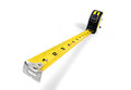 Tape measure a yellow isolated on a white background with copy space Royalty Free Stock Photos