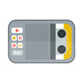 Tape recorder or dictaphone icon isolated on white vector illustration microphone voice audio sound equipment electronic Royalty Free Stock Photo