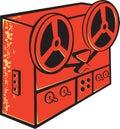 Tape Recorder Reel Cassette Deck Retro Royalty Free Stock Photo