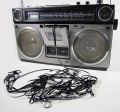 Tape spewing boombox Royalty Free Stock Photo