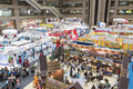 Tapei international travel fair exhibition taipei city october th area top view Stock Photography