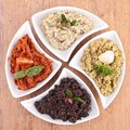 Tapenade close up on fresh Stock Image