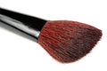 Tapered blush brush on white background a two tone against a Royalty Free Stock Photography