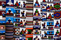 Tapestry at the market of Otavalo Royalty Free Stock Photo