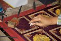 Tapestry Myanmar Royalty Free Stock Photo
