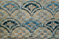 Tapestry textile pattern with floral ornament Royalty Free Stock Photo
