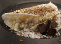 Tapioca brazilian pancake with coconut and chocolate Stock Photo