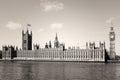 Tappning big ben i westminster london Arkivbild