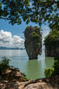 Tapu island popularly called james bond island at phang nga bay near krabi and phuket thailand Stock Photos