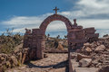 Taquille island at titicaca lake in peru Royalty Free Stock Photography