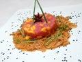 Tar-tar from a tuna and avocado Royalty Free Stock Image