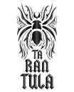 Tarantula lettering design spider illustration vector Royalty Free Stock Image