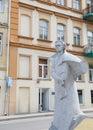 Taras hryhorovych shevchenko statue monument in vilnius lithuania ukrainian poet and painter also known under the name kobzar Stock Photo