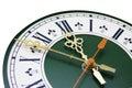 Tarcza analog zegar Zdjęcie Royalty Free