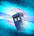 Tardis worm hole vortex photo of dr who travelling through deep space Royalty Free Stock Images