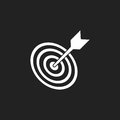 Target aim flat vector icon. Darts game symbol logo illustration