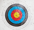 Target for archery with holes Stock Photography