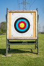Target at an archery range Royalty Free Stock Photo