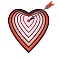 Target as heart vector illustration with and arrow Royalty Free Stock Photos