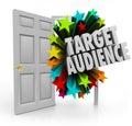 Target Audience Open Door Words Finding Best Clients Niche Prosp Royalty Free Stock Photo