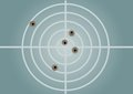 Target and bullet holes the Royalty Free Stock Images