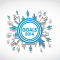 2014 Target Business Goals Royalty Free Stock Photo