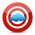 Target cloud computing concept Stock Images