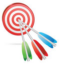 Target color arrows Stock Photos