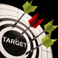 Target On Dartboard Shows Perfect Aiming Stock Image