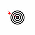 Target - dartboard vector with arrow