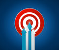 Target destination illustration design over a blue background Royalty Free Stock Images