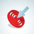 Target detailed vector illustration with arrow Stock Photography