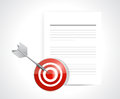 Target and documents illustration design over a white background Stock Photos