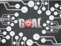 Target goals circuit boards illustration design Royalty Free Stock Photo