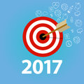 Target goals task list check new year resolution business personal
