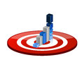 Target good profits illustration design over a white background Stock Images