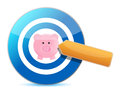 Target great savings illustration design over a white background Royalty Free Stock Photos