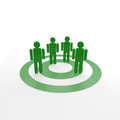 Target group in green color Royalty Free Stock Images