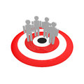 Target group a of people on red circle Stock Images