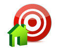Target and house illustration design Stock Photos