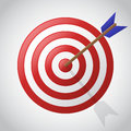 Target icon on a gray background. Business concept. Vector illustration