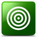 Target icon green square button Royalty Free Stock Photo
